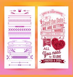 Colorful romantic wedding invitation design image vector