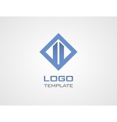 Construct luxury concept abstract logo template vector image