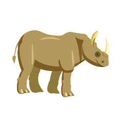 cute rhinoceros animal trend cartoon style vector image