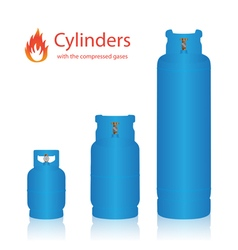 Cylinders with the compressed gases vector