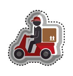 Delivery motorcycle service icon vector