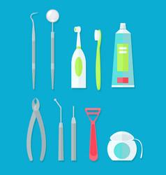 Dental tools set vector