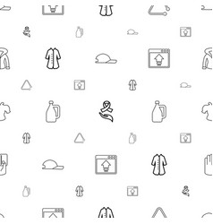 Drawn icons pattern seamless white background vector