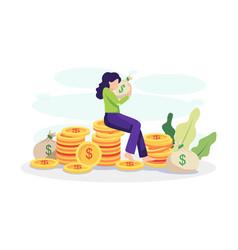 Financial freedom concept vector