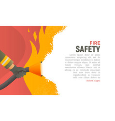 Fire safety precautions the vector