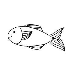 Fish happy cartoon icon image vector
