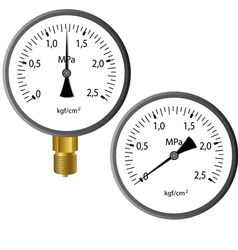Gas manometer vector