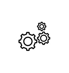 gear line icon in flat style for app ui websites vector image