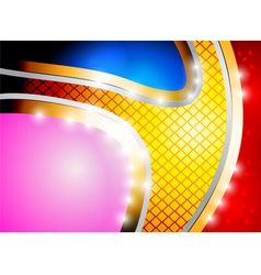 Glossy colored shape abstract background vector image