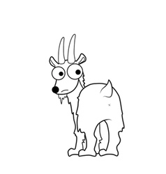 Goat cartoon vector image