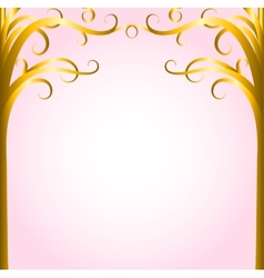 Gold trees vector image