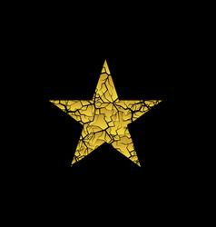 golden broken star vector image