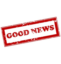 Good news red stamp vector