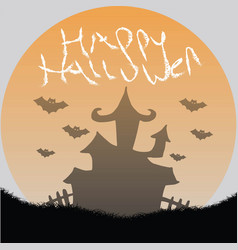 happy hallowen vector image