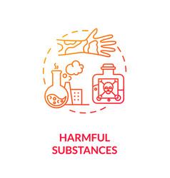 Harmful substances concept icon vector