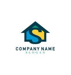 home letter s design vector image