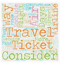 How To Find Cheap Airfare text background vector image