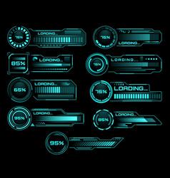 hud loading progress bars sci fi interface vector image