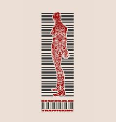 human trafficking relative image vector image