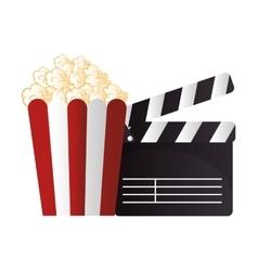 Icon pop corn cinema design vector