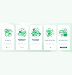 Intermittent fasting benefits green onboarding vector