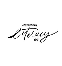 international literacy day greeting card vector image