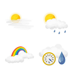 isolated object of weather and climate sign vector image