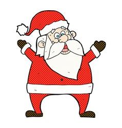 Jolly santa comic cartoon vector