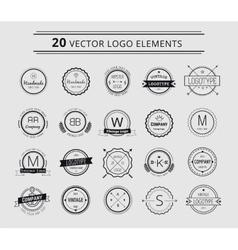 Logo design elements Vintage retro style Arrows vector