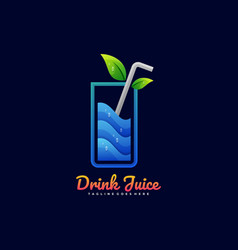 logo drink juice gradient colorful style vector image