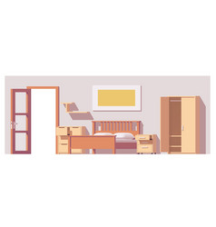 Low poly bedroom vector