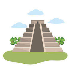 Mayan pyramid monument vector