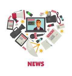 media news and journalism poster vector image