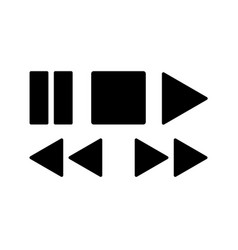 Media player icons set for design vector