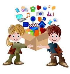 multimedia carton vector image