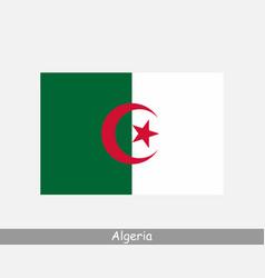 National flag algeria algerian country flag vector