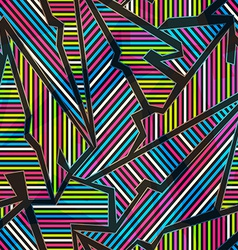 Neon geometric seamless pattern vector