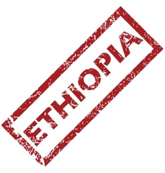 New Ethiopia rubber stamp vector