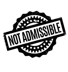 Not admissible rubber stamp vector