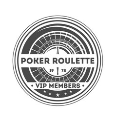 Poker roulette vintage isolated label vector