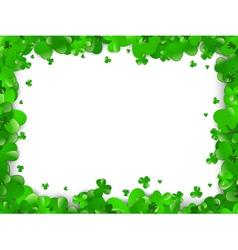 saint patrick day frame vector image