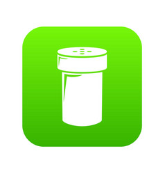 salt shaker icon green vector image
