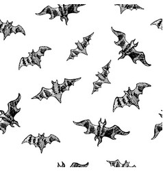 seamless bat pattern for halloween holidays vector image