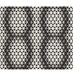 Seamless Black and White Triangle Line vector
