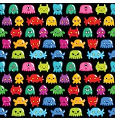 Seamless monsters pattern vector image