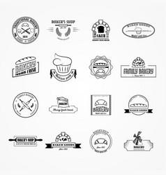set bakery logos vector image