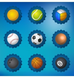 sport balls football soccer volleyball etc flat vector image