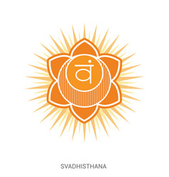 svadhisthana chakra yoga ayurveda reiki vector image