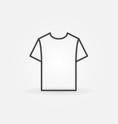 t shirt linear icon t-shirt line symbol vector image