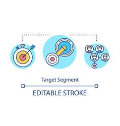 Target segmentation concept icon vector
